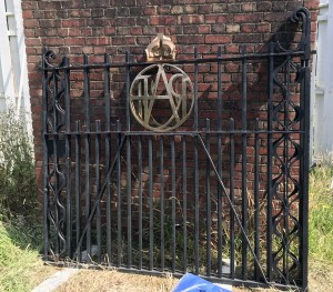 Biggin Hill gates in storage